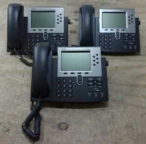 Lot Of 3 cisco 7900 Cp 7960g Voip Ip Office Telephone See Notes