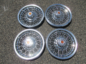 Genuine 1980 Chevy Impala Caprice 15 Inch Wire Spoke Hubcaps Wheel Covers