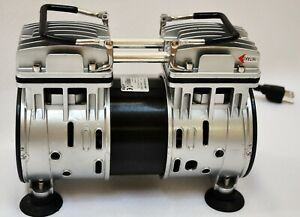 Twin Piston Oilless Vacuum Pump 4 5cfm 1 2hp Goat Milker Workshop Sci Medic Lab