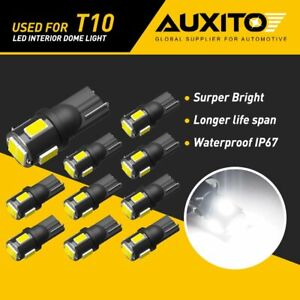 Auxito T10 2825 Led Interior Dome Map License Light Bulb 168 158 194 Error Free