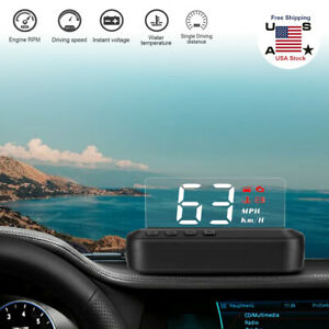 C100 Hud Car Head Up Display Obd2 Speedometer Warning System Dashboard Projector