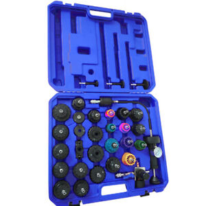 33pc Radiator Pressure Tester Tool Vacuum Type Cooling System Refill Kit 35psi