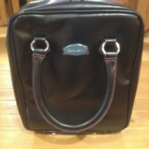 New Black Faux Leather Jewelry Travel Display Sample Carry Case By Cookie Lee