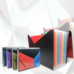 A4 Expanding Multi layer File Folder Document Organizer 13 Pockets Accordion Bag