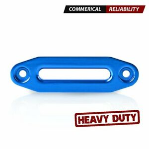Blue 6 Anodized Aluminum Hawse Fairlead For 3 500 5 500lbs Synthetic Winch Rope