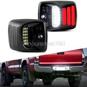 For Toyota Tacoma Tundra 2005 15 Red Oled Neon Tube License Plate Light Lamp