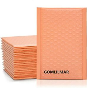 All Sizes Poly Bubble Mailers Padded Envelopes Peach Color Shipping Supplies