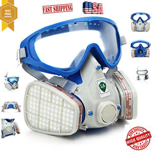 Silicone Gas Cover Paint Chemical Mask Full Face Respirator Gas Mask And Goggles