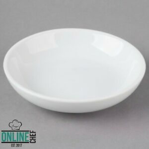 2 Oz Bright White Porcelain Round Sauce Sake Cup Smooth Oven Safe Hotels 72 case