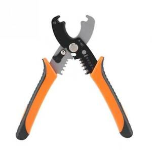 Cable Wire Crimper Crimping Stripping Stripper Plier Cutter Cord Cutter Tool
