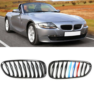 For Bmw Z4 E85 E86 Coupe Roadster Gloss Black M Color Kidney Front Grilles 03 08