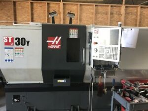 Used Haas St 30y Cnc Lathe 2019 Y axis Live Tooling 3 Bar Barfeed Parts Catcher