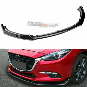 Carbon Fiber Front Bumper Lip Cover Body Spoiler For Mazda 3 Axela 2014 2018 Us