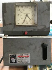 Vintage Lathem Employee Time Clock With Handle Punch Clock Still Works h3ms