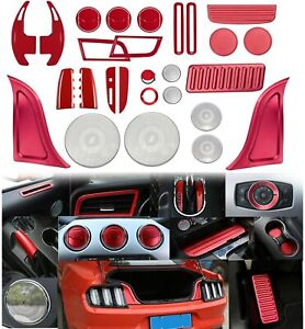 Center Interior Accessory Decoration Dash Kit Trim Panel Cover For Ford Mustang