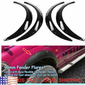 Universal 110mm 4 3inch Fender Flares Black Rear Front Fit For Most Vehicle 4pcs