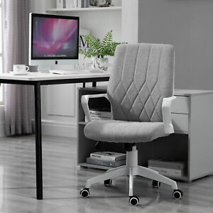 Vinsetto Ergonomic Office Chair With Wheel Fabric Rocker 360 Swivel Home