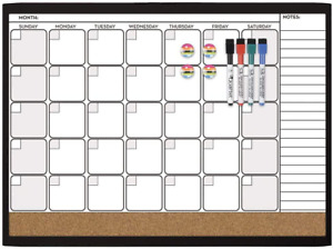 Quartet Combination Magnetic Whiteboard Calendar Value Pack 17 X 23 Inch