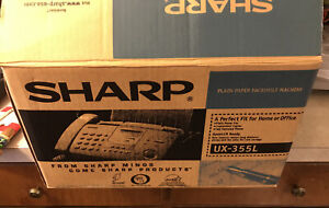 New Sharp Ux 355l Plain Paper Fax Transmission Home Office Use Never Taken Out