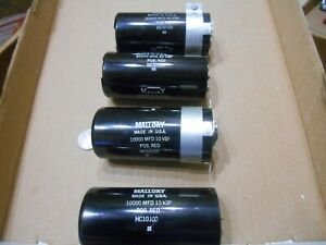 Lot Of 4 Mallory Capacitor Hc10100