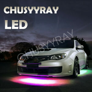 Rgb Strip Under Car Tube Underglow Underbody System Neon Lights Kits 36 Led Usb