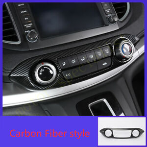 Carbon Fiber Console Air Conditioning Button Panel For Honda Crv Cr v 2012 2016