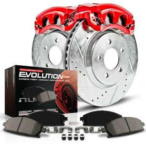 Kc4552 Powerstop Brake Disc And Caliper Kits 2 wheel Set Front For Volvo Xc90