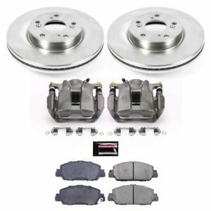 Kcoe6777a Powerstop Brake Disc And Caliper Kits 2 wheel Set Front New Coupe