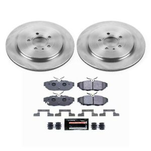 Tdbk6402 Powerstop Brake Disc And Pad Kits 2 wheel Set Rear New For Ford Mustang