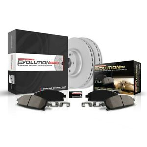 Crk847 Powerstop 2 wheel Set Brake Disc And Pad Kits Rear New For Vw Beetle Golf