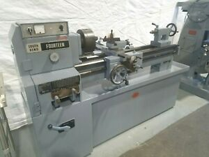 South Bend 14 X 40 Tool Room Metal Lathe With 8 Inch 3 Jaw Chuck Threading