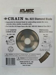 Crain 822 6 1 2 inch Diamond Jamb Saw Blade For 820 825 Saw And 812 Super Saw