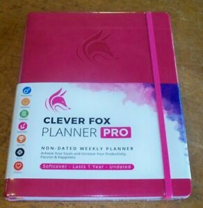 Clever Fox Planner Pro Undated Weekly Monthly Life Planner Pink 8 1 2 X 11