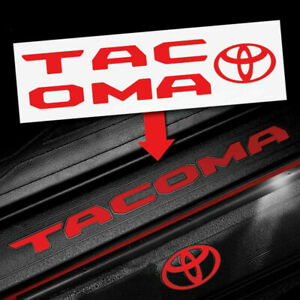 2016 2020 Tacoma Door Sill Protector Insert Letters Sticker Set 4 Vinyl Decals