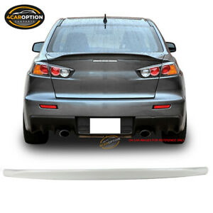 Fits 08 17 Lancer Evo X Duckbill Trunk Spoiler Wing Painted W37 Wicked White