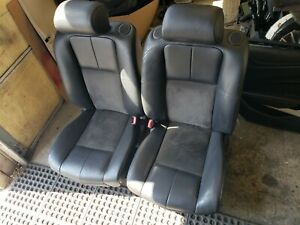2006 Cadillac Sts V Leather And Suede Seats Ebony Black Front Set
