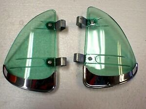 Vintage 1950s 1960s Deluxe Chrome Trim Green Breezies Air flows Accessory Nos