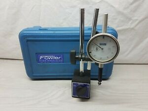 Fowler Dial Indicator Magnetic Base 72 585 155 Shock Water Resistant like New
