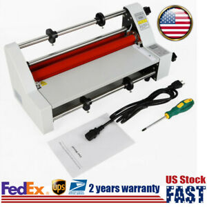 Digital Laminating Machine Hot Cold Roll Laminator Single Dual Sided 350mm 13