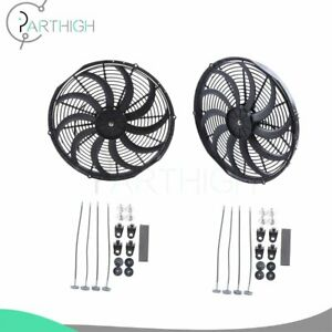 16 Inch Electric Radiator Cooling Fan For Ford F 250 F 350 Focus 12v 3000cfm 2x