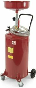 Arksen 20 Gallon Portable Waste Oil Drain Tank Air Operated Drainage Adjustable