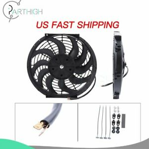 12 Inch Electric Radiator Cooling Fan For Chevrolet Avalanche Aveo 3000cfm 2x