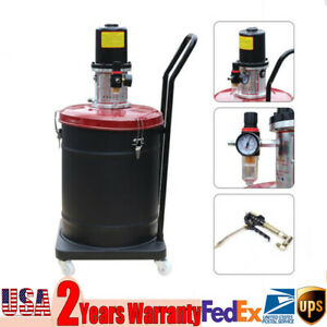 10 Gallon High Pressure Air Pneumatic Compressed Grease Pump Injector Hose Usa
