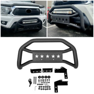 Front Bumper Grille Guard For 2005 2020 Toyota Tacoma Textured Black Bull Bar