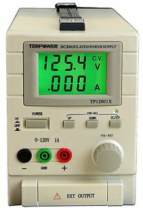 Used Tekpower Tp12001x 120v 1a Dc Variable Switching Power Supply Output