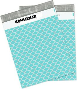 Poly Mailers 14 5x19 50 Pack Mermaid Scales Deluxe Large Shipping Bags