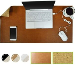 New Gaming Mousepad Pu Leather Cork 31 5 15 7 Waterproof Desk Cover Protector