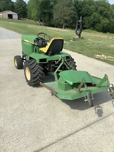 John Deere 430 Garden Tractor With Rear Pto 3 Point And Rear Deck