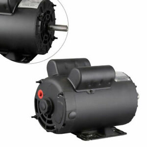 5 Hp Air Compressor Electric Motor Base mounted 56 Frame 3450 Rpm Single Phase