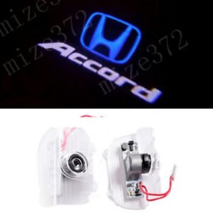 2x Blue Logo Car Led Door Light Ghost Laser Projector For Honda Accord 2013 2020